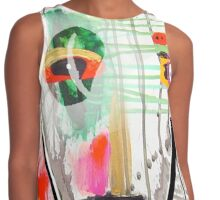 tribal clown Contrast Tank