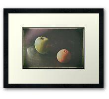 Green Apple and Tangerine Framed Print