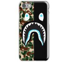 bape shark blue army  iPhone Case/Skin