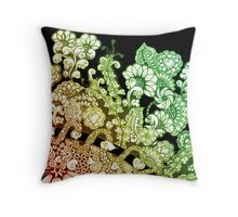 Hippy Dododoodle Design Throw Pillow