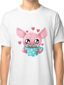 Molly the Micro Pig - Cup of Tea Classic T-Shirt