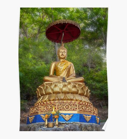 Golden Thai Buddha Poster
