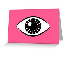 Eyes Wide Open - Lipstick Pink Greeting Card