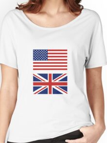 The USA and UK Flags Combo. Women's Relaxed Fit T-Shirt