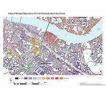 Multiple Deprivation Riverside ward, Southwark Photographic Print
