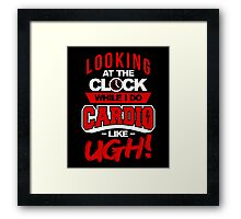 Cardio Clock Framed Print