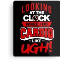 Cardio Clock Metal Print