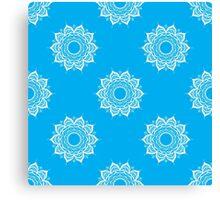 Hand drawn seamless pattern with mandalas Canvas Print