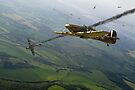 Battle of Britain dogfight by Gary Eason