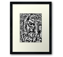 cover my face Framed Print