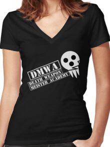 soul eater- DMWA skull Women's Fitted V-Neck T-Shirt