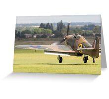 RAF Hurricane landing Greeting Card