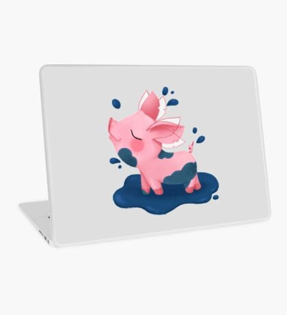 Molly the Micro Pig - Playing in a Puddle Laptop Skin