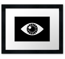 Eyes Wide Open - on Black Framed Print