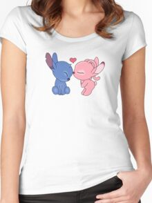 angel and stitch Women's Fitted Scoop T-Shirt