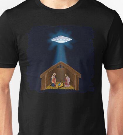 Jesus Nativity With UFO Star Unisex T-Shirt