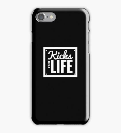 Kicks for Life - White iPhone Case/Skin