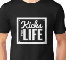 Kicks for Life - White Unisex T-Shirt