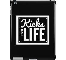Kicks for Life - White iPad Case/Skin