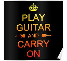 Play Guitar (colorful) Poster