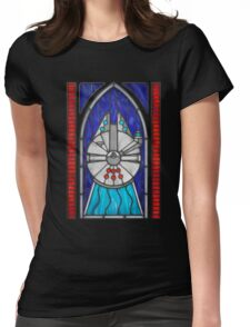 Stained Glass Series - Falcon Womens Fitted T-Shirt