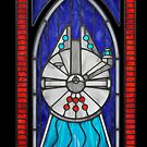 Stained Glass Series - Falcon by ianleino