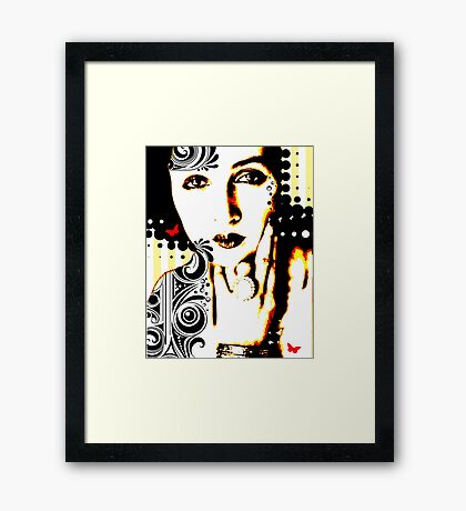 Subjected to Ink Framed Print