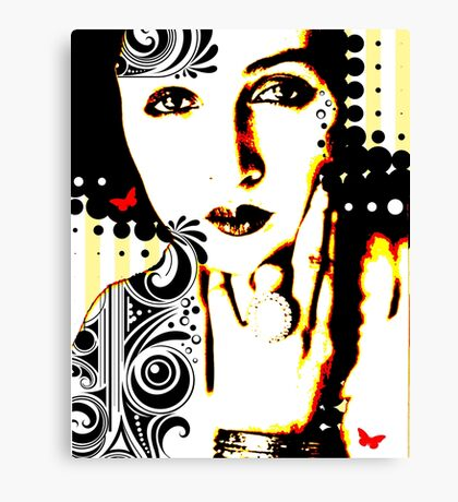 Subjected to Ink Canvas Print