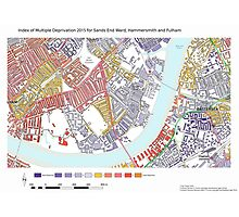 Multiple Deprivation Sands End ward, Hammersmith & Fulham Photographic Print