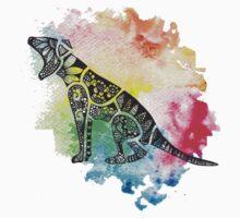 Thylacine over Watercolour One Piece - Short Sleeve