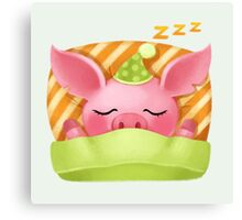 Molly the Micro Pig - Cute Sleep Canvas Print