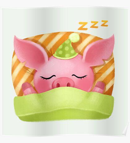 Molly the Micro Pig - Cute Sleep Poster