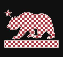 California Checker Bear Flag Kids Tee
