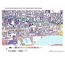 Multiple Deprivation Shadwell ward, Tower Hamlets Photographic Print