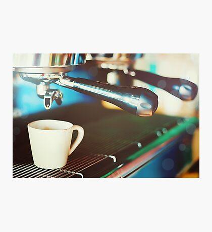 Coffee machine making espresso Photographic Print