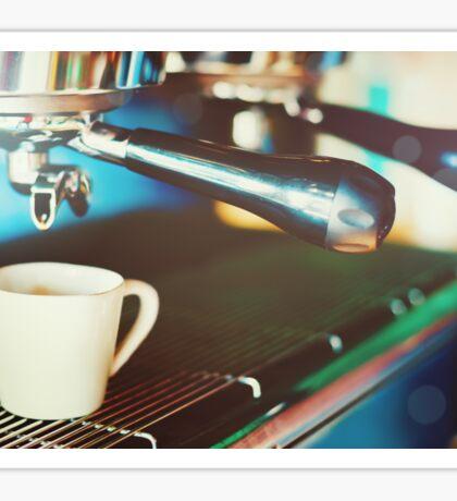 Coffee machine making espresso Sticker