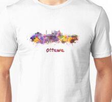 Ottawa V2 skyline in watercolor Unisex T-Shirt