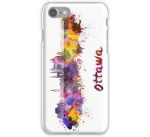 Ottawa V2 skyline in watercolor iPhone Case/Skin