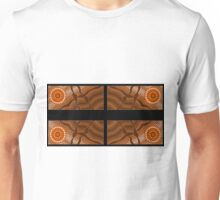 An illustration on aboriginal style of dot painting depicting ways Unisex T-Shirt