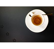 Blurred image of empty coffee cup Photographic Print