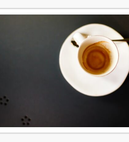Blurred image of empty coffee cup Sticker