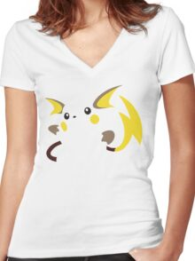 Raichu Women's Fitted V-Neck T-Shirt