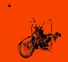 Harley-Davidson on Orange by Don Bailey