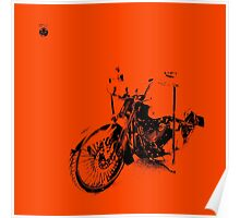 Harley-Davidson on Orange Poster