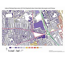 Multiple Deprivation Shepherd's Bush Green ward, Kensington & Chelsea Photographic Print