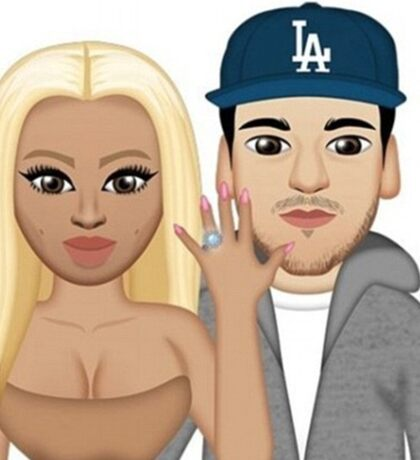 Rob & Chyna - Kimoji  Sticker
