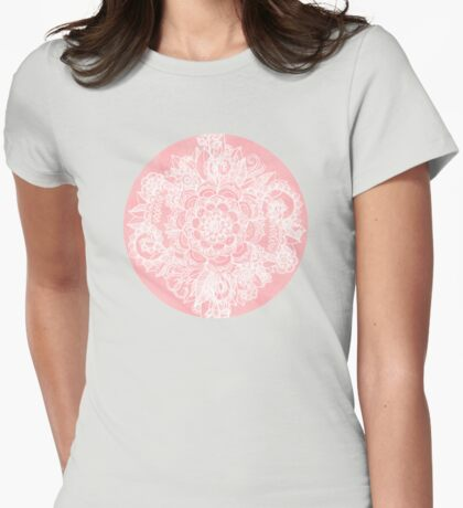 Marshmallow Lace Womens Fitted T-Shirt