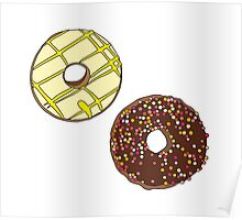Donuts like Chocolates Poster