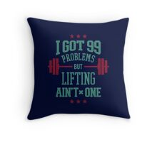 Lifting Aint One Throw Pillow