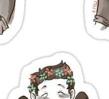 Team Free Will - Flower Crowns Sticker
